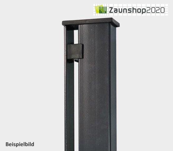 Zaunpfosten mit Abdeckleiste Pfosten (zum betonieren) für Zaunhöhe: 808 mm anthrazit